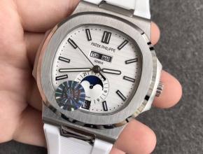 KM厂百达翡丽鹦鹉螺万年历月相表复刻手表
