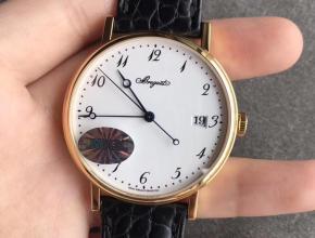 MKS宝玑5177BB超薄复刻经典黄金色白盘手表
