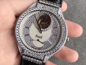 R8厂伯爵P0L0 G0A38148真陀飞轮满天星皮带男款手表