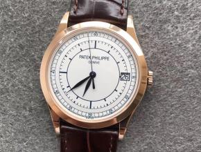 ZF厂百达翡丽古典表系列5296G-010玫瑰金白盘复刻手表