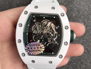 """KV厂理查德米勒RM055白陶瓷系列""""深邃绿""""男款手表"""