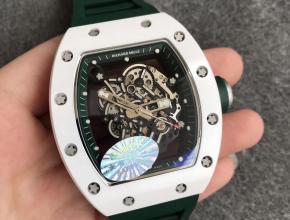 """KV理查德米勒RM055白陶瓷系列""""深邃绿""""绿色硅胶"""