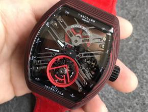 FM法兰克穆勒红魔红纹碳纤维陀飞轮红色表带