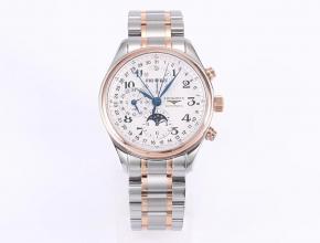 GS厂浪琴名匠八针月相40直径新款L.687机芯顶级复刻手表