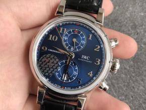ZF厂万国达文西系列IW393402缎纹深蓝优雅大方复刻表