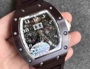 KV厂理查德米勒RM011陶瓷双历独跳功能男款自动机械橡胶带手表