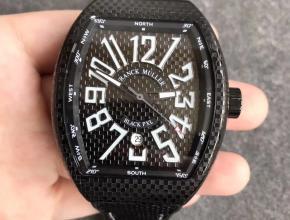 法兰克穆勒 Vanguard V45系列25周年纪念版男款自动机械尼龙带手表
