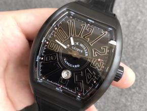 TF厂法兰克穆勒Vanguard V45系列黑色男款自动机械皮带手表