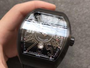 TF法兰克穆勒Vanguard V45系列黑色男款自动机械皮带手表
