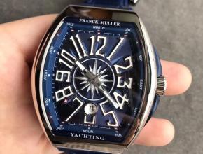 法兰克穆勒V45遊艇系列男款皮带复刻手表