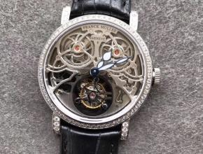 TW厂法兰克穆勒GIGA圆形镂空陀飞轮机械皮带男款手表