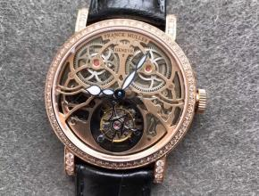 TW法兰克穆勒GIGA圆形镂空陀飞轮机械皮带男款手表