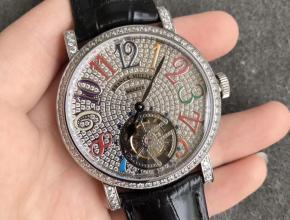TW厂法兰克穆勒镂空陀飞轮满天星机械皮带手表