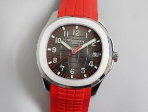 zf百达翡丽顶级复刻5467手雷超薄机械手表红色运动款