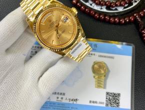 劳力士日志型18k包金 男士机械腕表