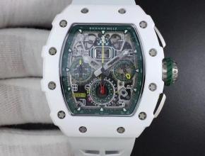 KV厂理查德米勒RM011-03LMC陶瓷经典赛车系列男款橡胶带自动机械手表
