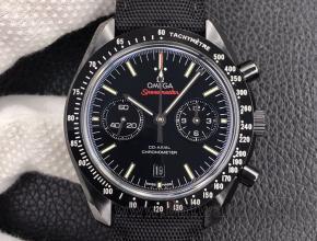 om厂欧米茄超霸顶级复刻手表陶瓷材质 9300机芯 月之暗面