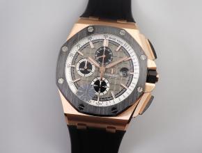 复刻手表爱彼皇家橡树离岸型26416RO计时系列 直径44mm 陶瓷圈口