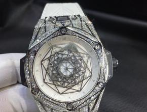 宇舶刺青真金南非真钻机械手表白盘