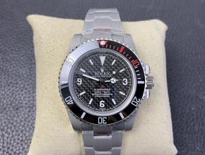 高仿劳力士改装手表喷砂壳碳盘面