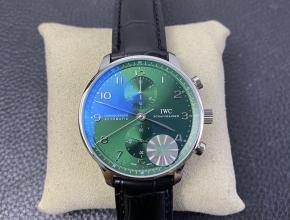 YL厂复刻万国绿葡计手表绿盘葡萄牙计时腕表