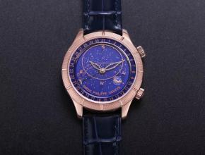 精仿百达翡丽手表复杂功能星空系列5106R/5102/6104玫瑰金蓝盘