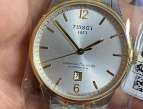 天梭杜鲁尔系列原单正品80小时储存动力t099间金男士机械手表