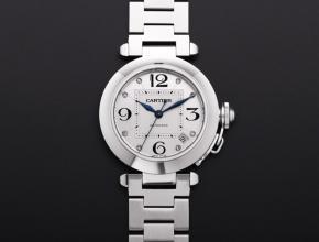 V9厂高仿手表卡地亚帕莎系列W31074M7女士自动机械白盘