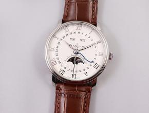 OM宝珀高仿手表villeret经典6654全新V3升级版比V2薄0.6mm白色表盘
