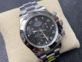 N厂手表迪通拿劳力士复刻4130机芯白金迪钢带黑盘
