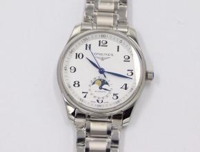 GS厂浪琴复刻手表名匠系列月相腕表白盘316精钢表带