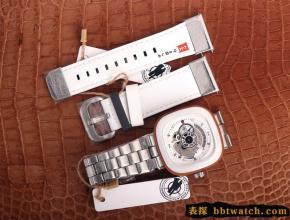 复刻七个星期五手表SEVENFRIDAY/自动机械男表瑞士钢带大表盘白色