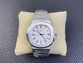 3K厂顶级百达翡丽复刻手表鹦鹉螺324SC超薄机械白钢白盘