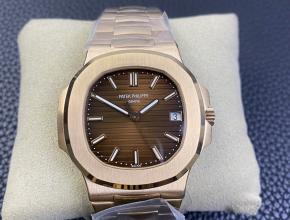 3K厂顶级百达翡丽复刻手表鹦鹉螺324SC超薄机械玫瑰金咖啡盘