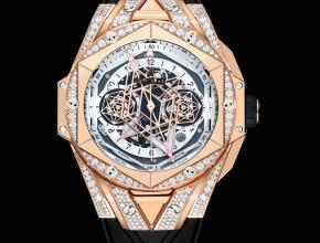 Hublot宇舶精仿手表手表全新BigBangSangBleuII刺青男士机械腕表