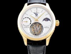 积家精仿手表大师系列Q5046520自动真陀飞轮男士腕表