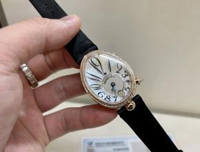 宝矶顶级高仿手表皇后系列玫瑰金女士钻石皮带腕表