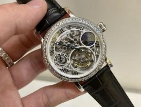 百达翡丽顶级复刻手表镂空雕花系列陀飞轮男士钻石腕表