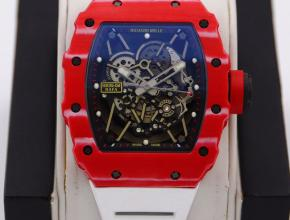 理查德米勒顶级精仿手表男款蓝盘橡胶带机械手表