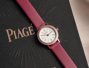 伯爵顶级高仿手表ALTIPLANO系列女士钻石皮带石英休闲腕表