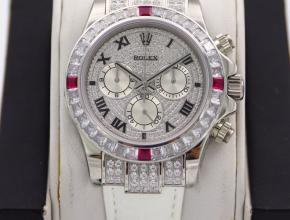 劳力士顶级复刻手表迪通拿系列密镶116599满天星粉钻男士腕表