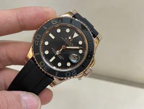 劳力士顶级精仿手表游艇名仕系列玫瑰金男士运动腕表