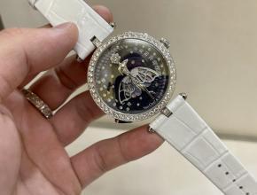 梵克雅宝顶级精仿手表诗意系列女士钻石皮带腕表
