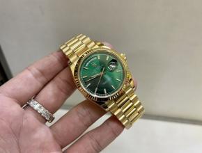 劳力士顶级精仿手表日志系列绿盘包黄金男士机械腕表