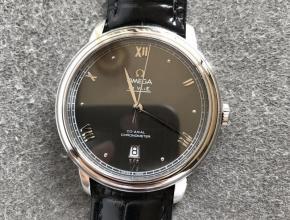 欧米茄顶级高仿手表蝶飞系列灰面男士机械腕表