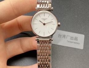 浪琴顶级高仿手表超薄嘉岚系列精品情侣对表石英钢带腕表