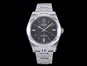 劳力士顶级精仿手表蚝式恒动系列男士机械灰盘钢带腕表