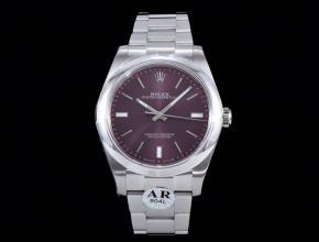 劳力士顶级精仿手表蚝式恒动系列男士机械紫盘钢带腕表