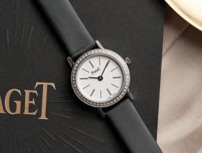 伯爵顶级高仿手表ALTIPLANO系列钻石石英休闲白盘女士腕表