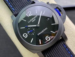 沛纳海顶级高仿手表Pam1176全陶瓷表壳男士机械黑盘腕表